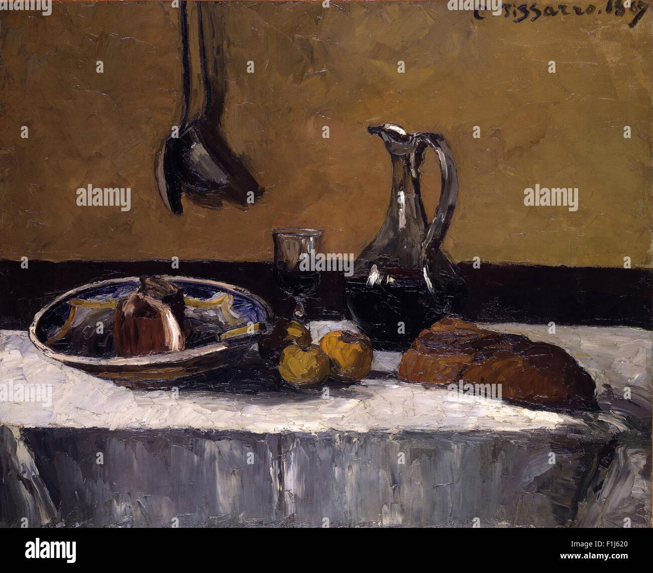 Camille Pissarro - Stillleben Stockbild