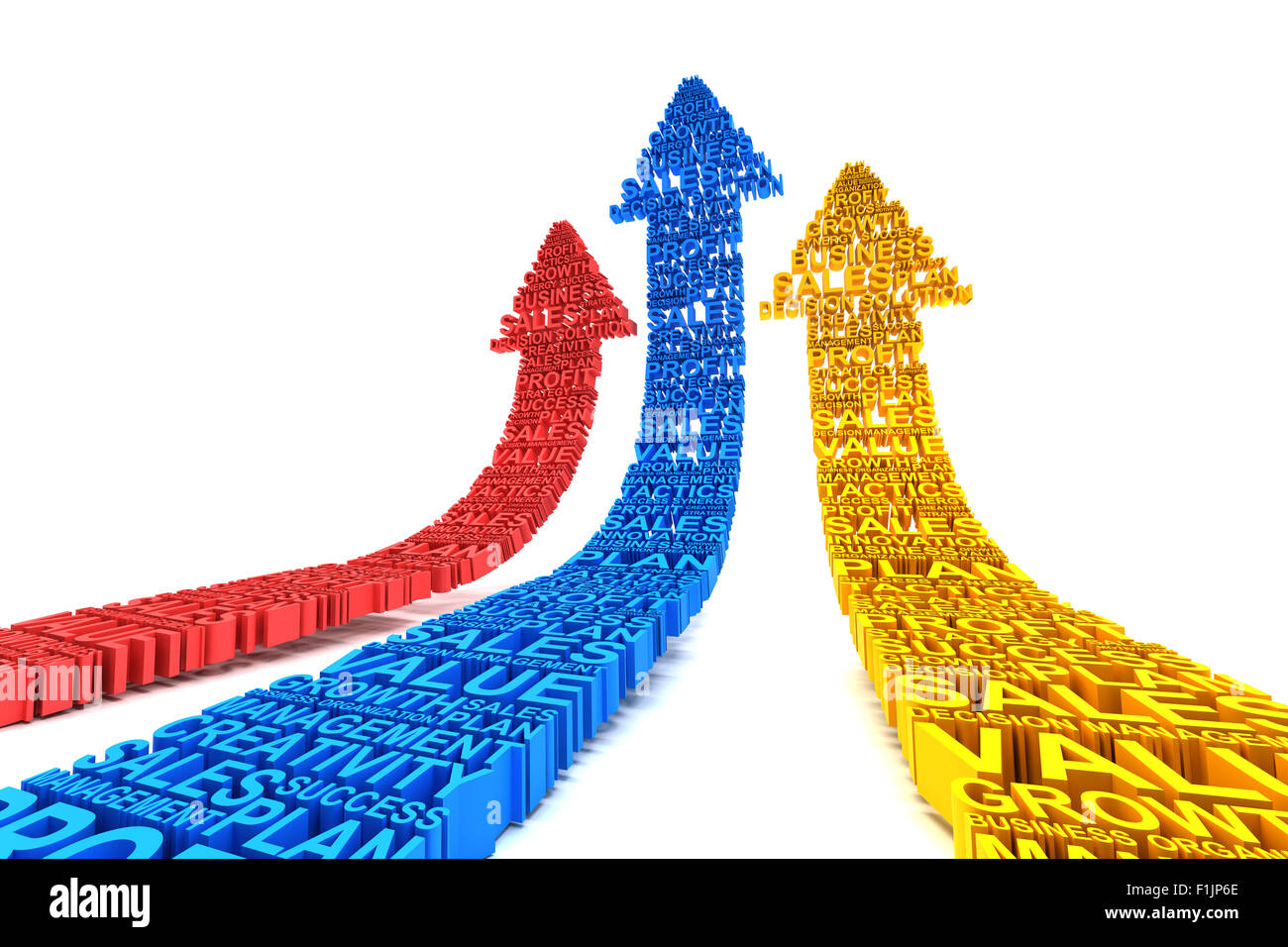 Geschäft Verbesserung Pfeile Stockfoto