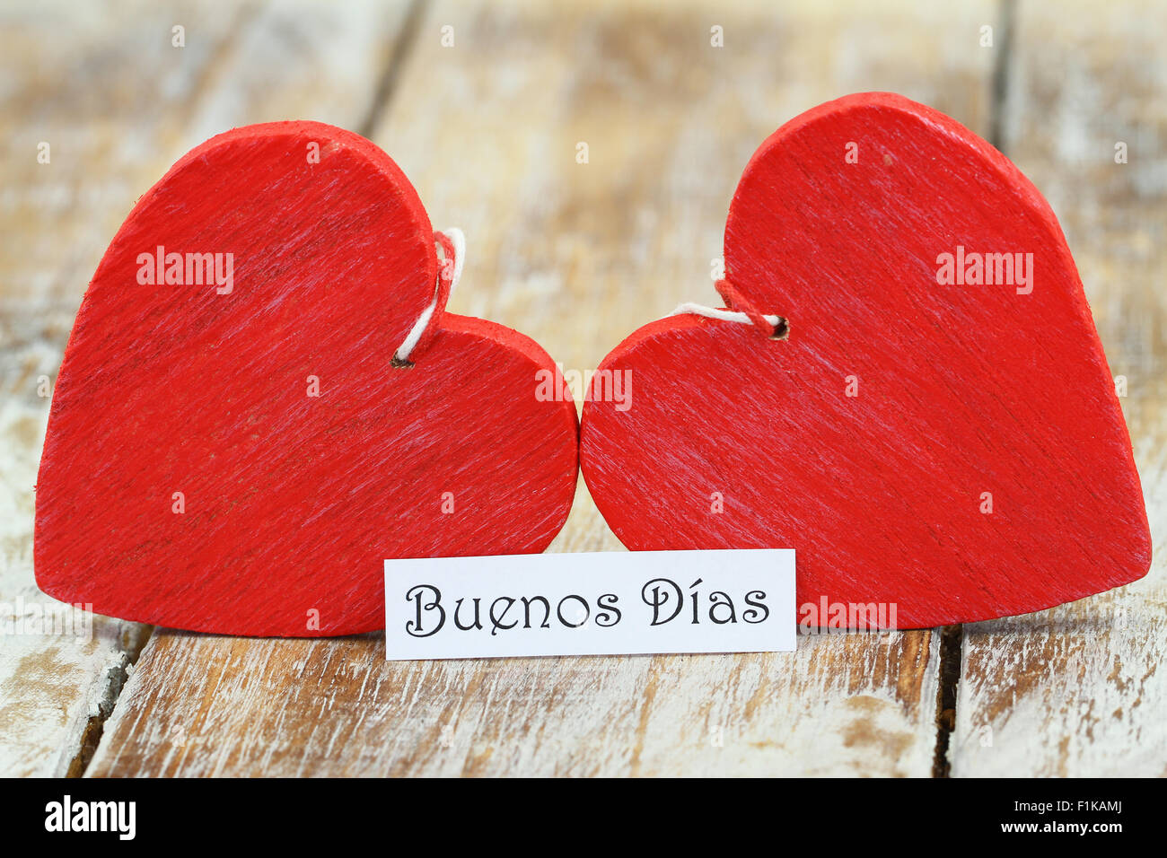 Buenos Dias Guten Morgen In Spanisch Mit Zwei Roten