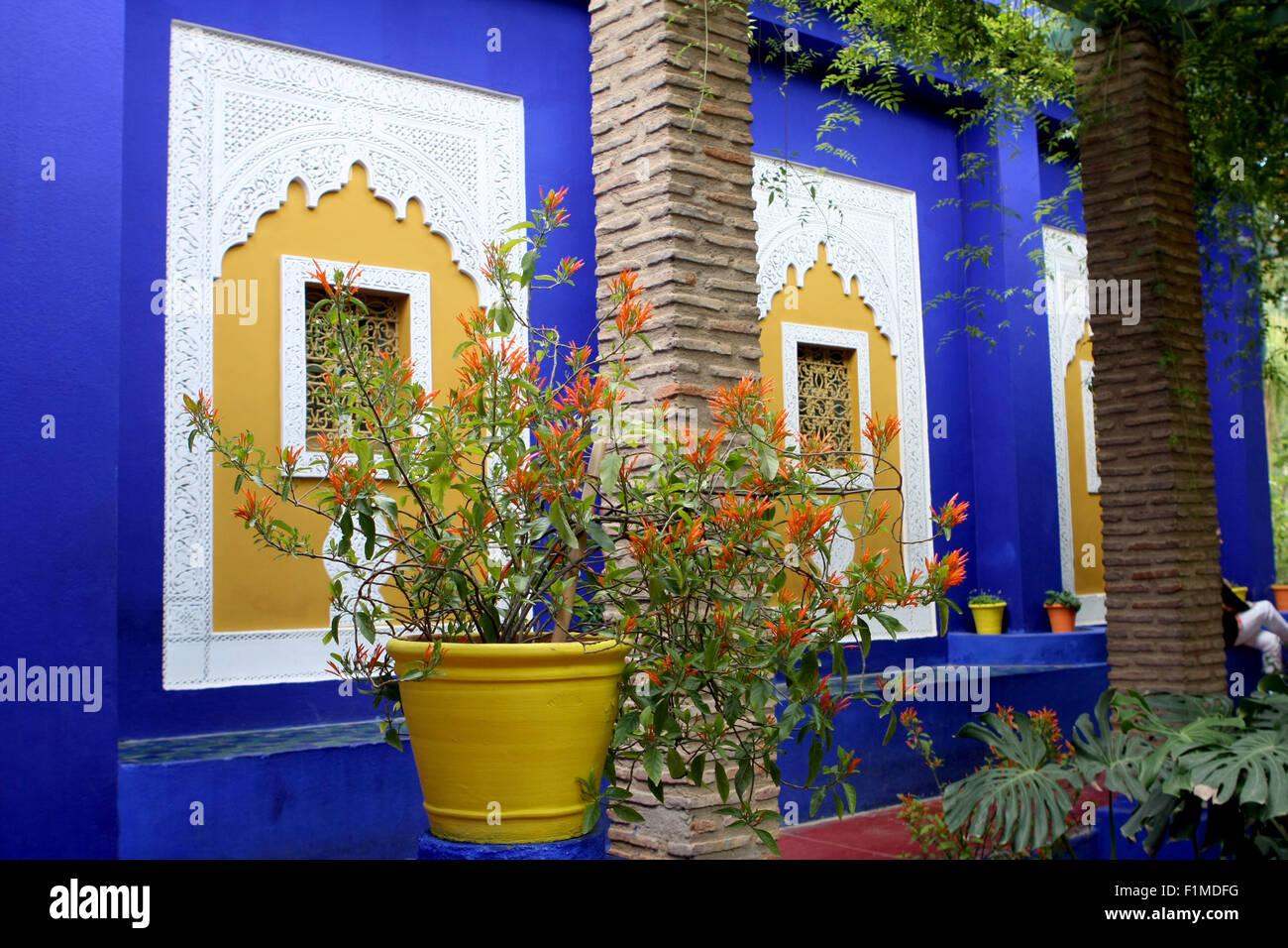 Das Blaue Haus In Der Jardin Majorelle Marrakesch Marokko