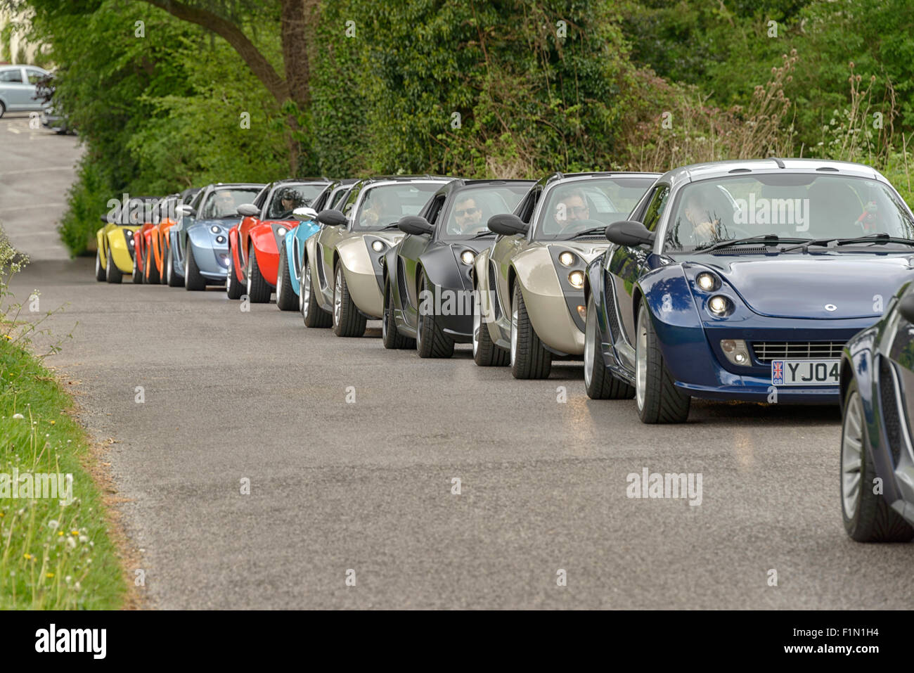 Smart Roadster parade Stockbild