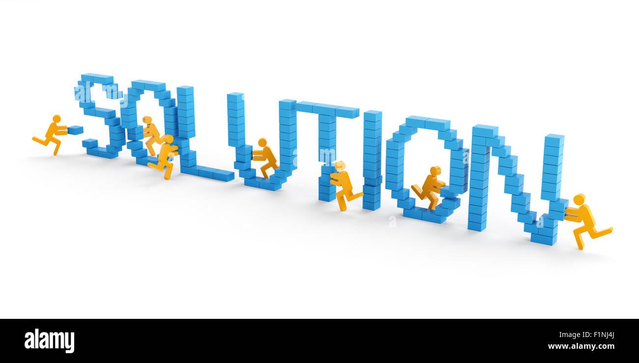Teamarbeit-Lösungskonzept Stockbild