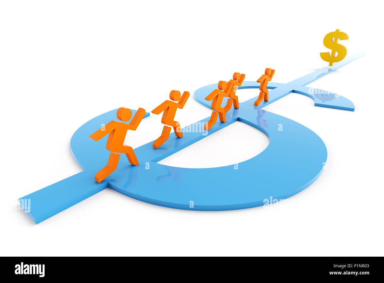Weg zum Wohlstand Stockbild