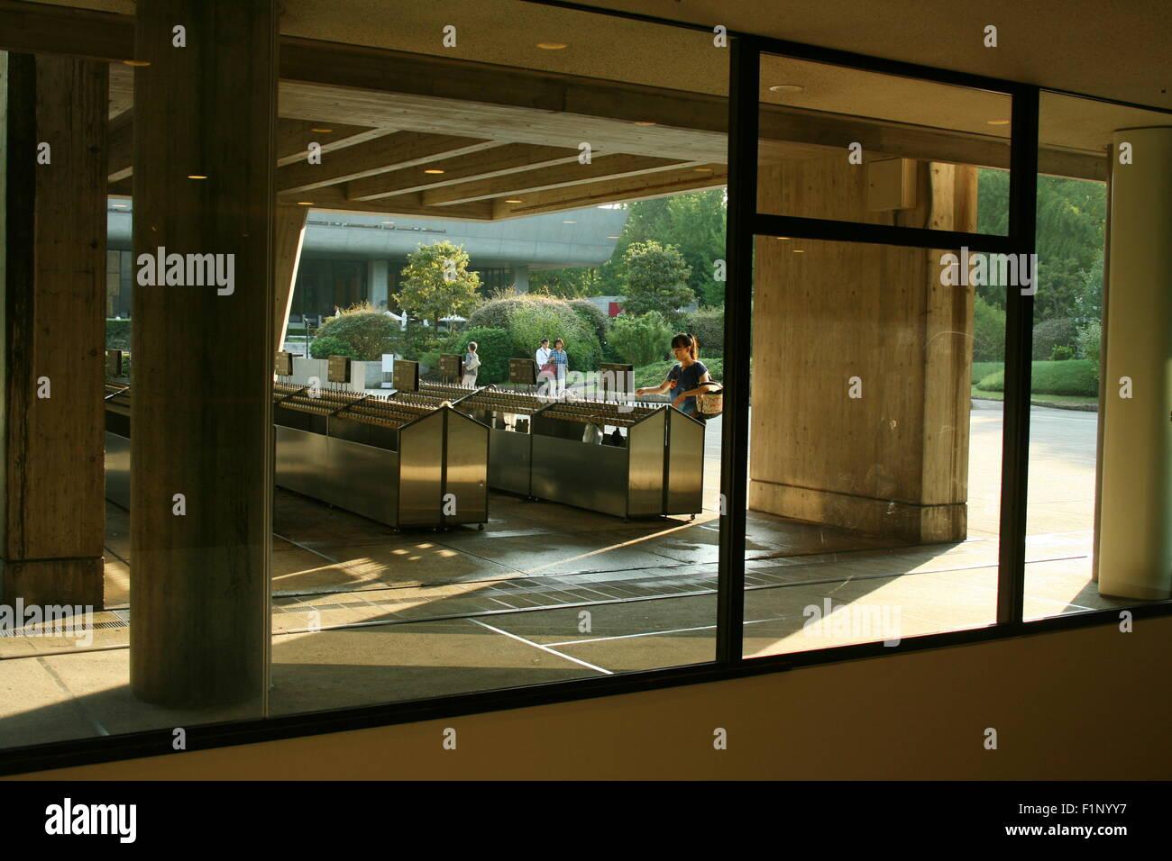 Schirmständer aus innen Le Corbusier entworfen National Museum of ...