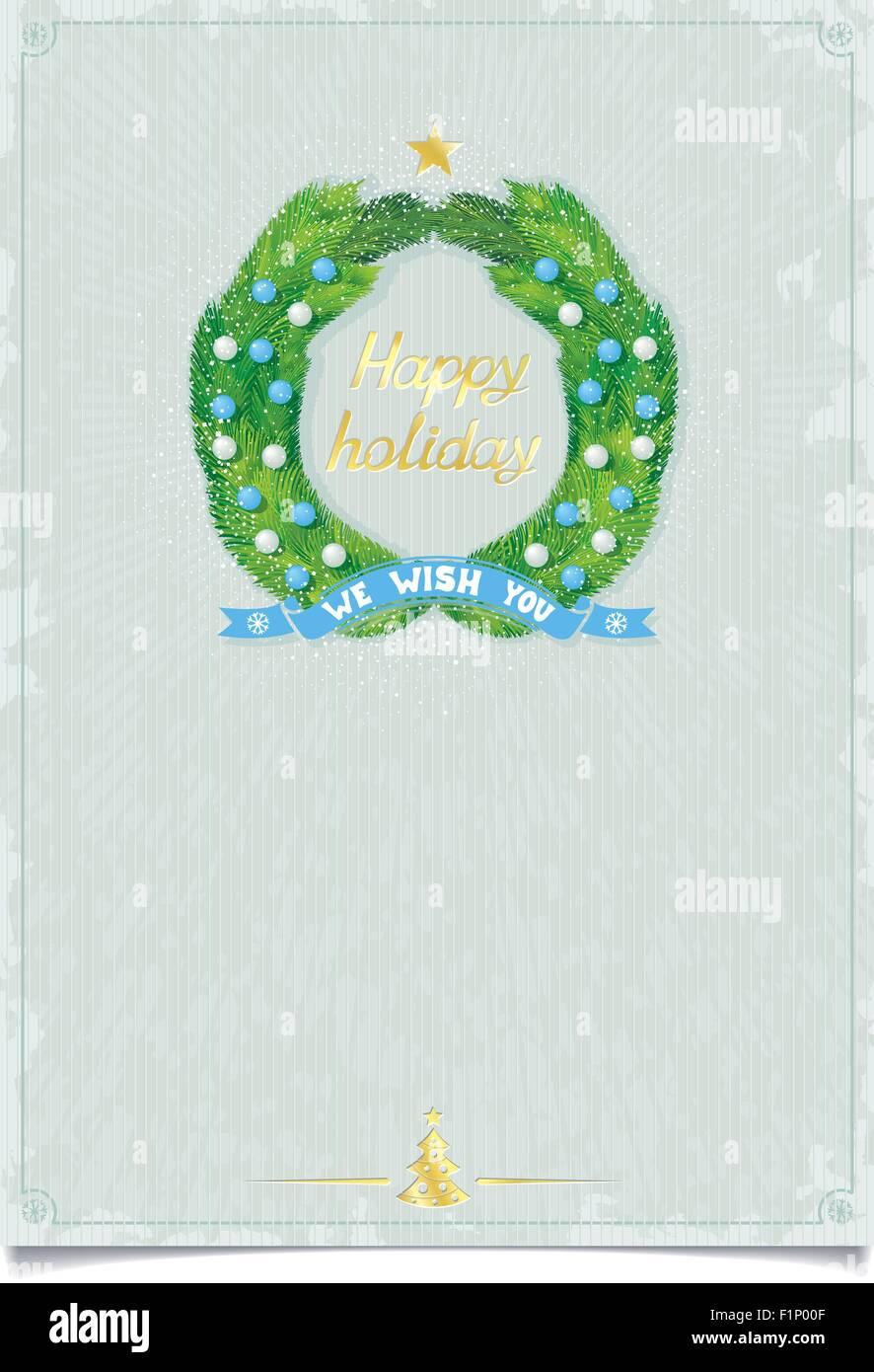 Weihnachtsgrüße Vorlage.Vorlage Für Frohe Weihnachtsgrüße Mit Adventskranz Und Dekorationen