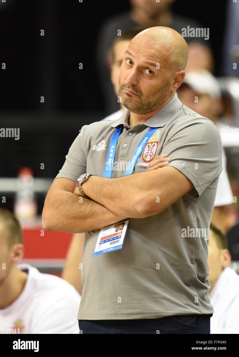 Berlin Deutschland 5 Sep 2015 Serbiens Trainer Aleksandar