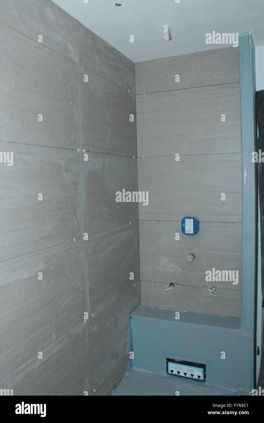 Renovierung, Sanierung, Experimentierfeld, Badezimmer Stockfoto ...
