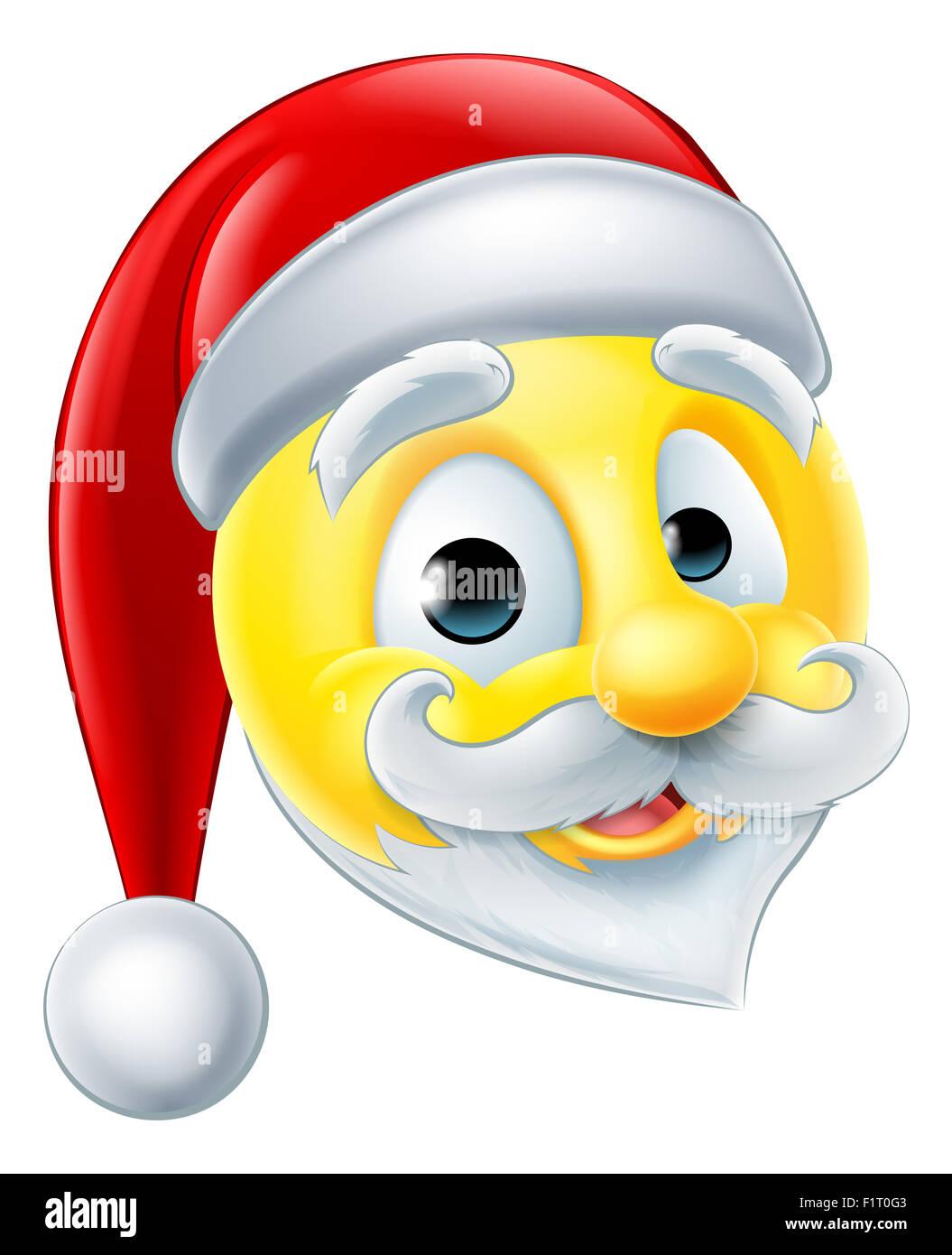 Eine glückliche Santa Claus Weihnachten Emoji Emoticons Stockfoto ...