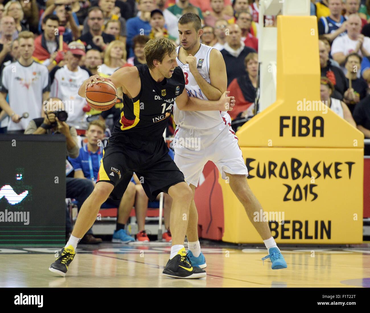 Berlin Deutschland 06 Sep 2015 Deutschlands Dirk Nowitzki L