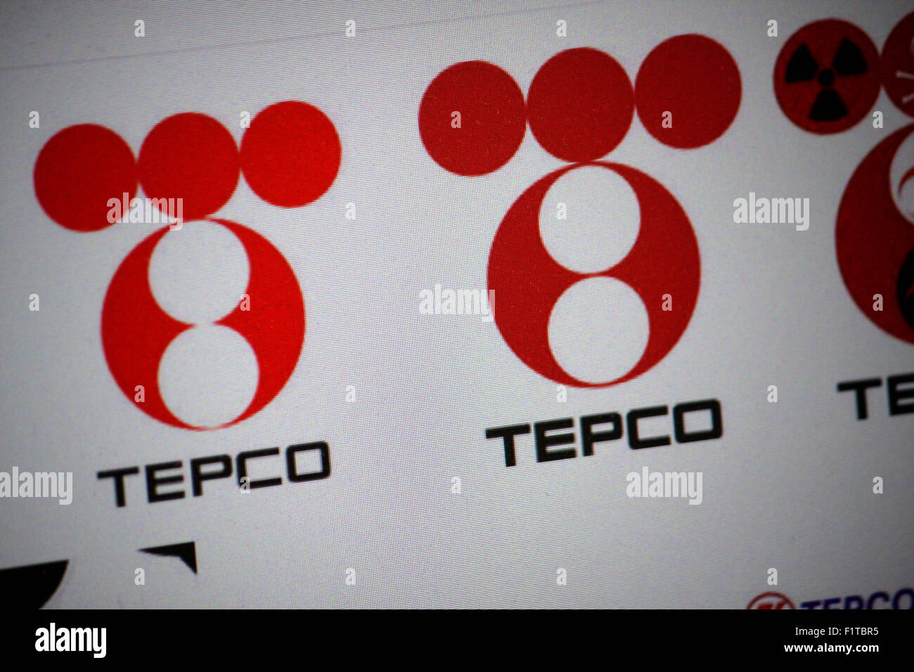 "Markenname: ""TEPCO - Tokyo Electric Power Company"", Dezember 2013, Berlin. Stockbild"