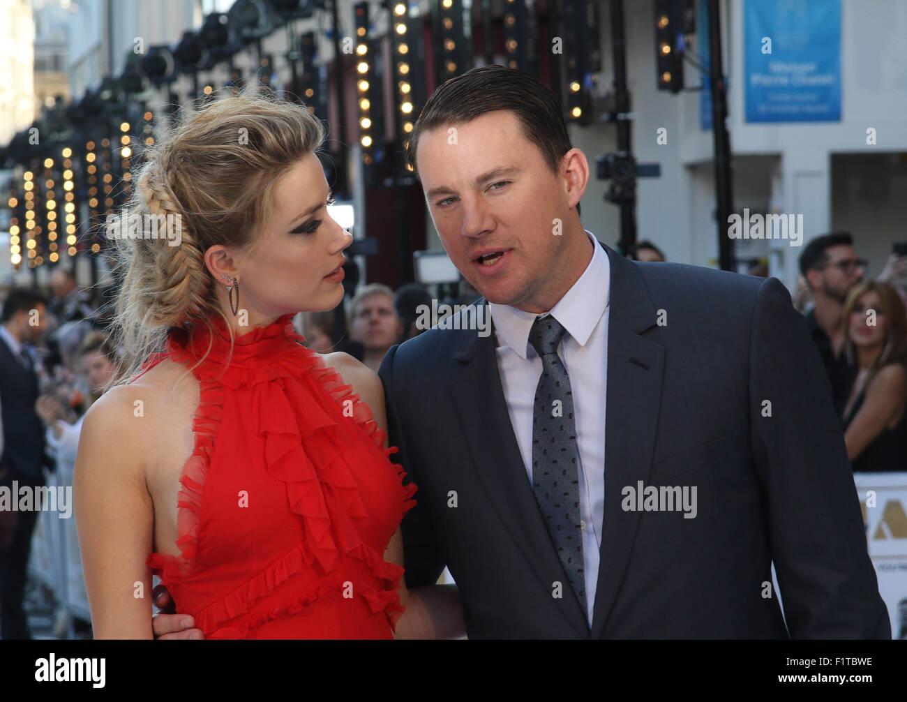 LONDON, UK, 30. Juni 2015: Amber Heard und Channing Tatum besuchen den Magic Mike: XXL - britischen Filmpremiere, Stockbild