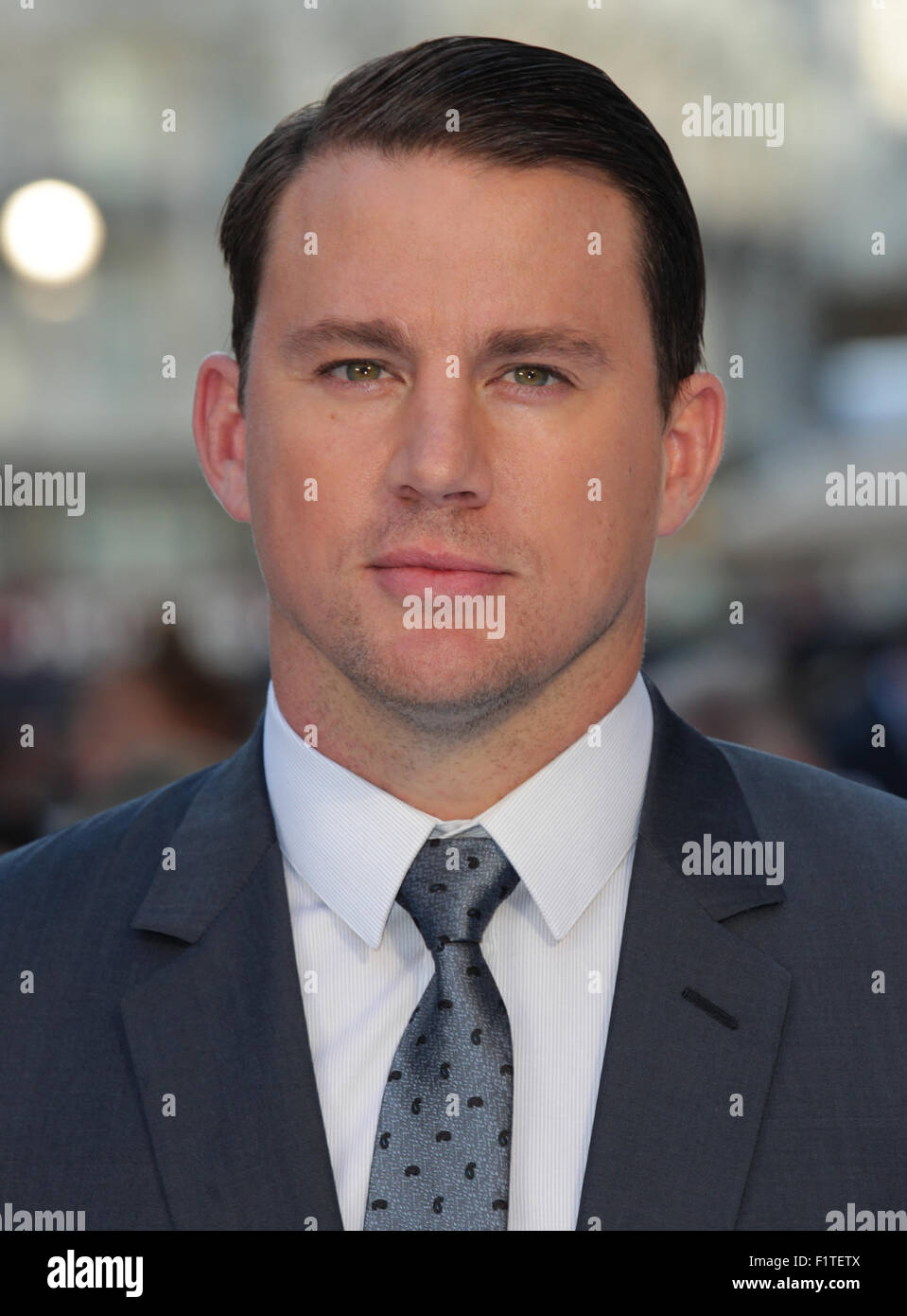 LONDON, UK, 30. Juni 2015: Channing Tatum besucht den Magic Mike: XXL - britischen Filmpremiere, Leicester Square Stockbild