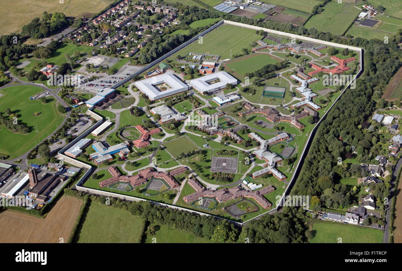 Luftaufnahme von HMP Kennet & Ashworth psychiatrisches Krankenhaus, Parkbourne, Maghull, Liverpool, UK Stockbild