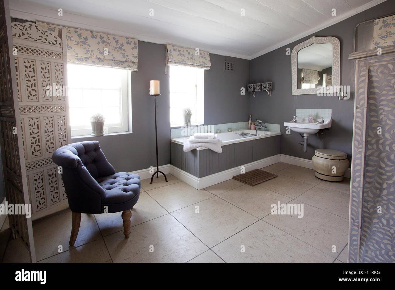 Innenraum Foto eines en Suite Badezimmer Stockfoto, Bild ...