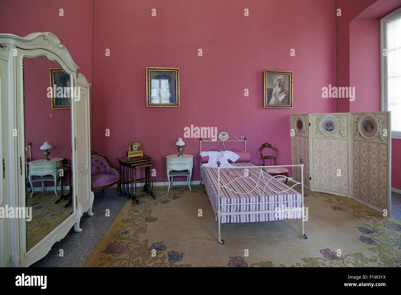 Prinzessin Carlottas Schlafzimmer Villa Carlotta Lake Como Lombardei ...