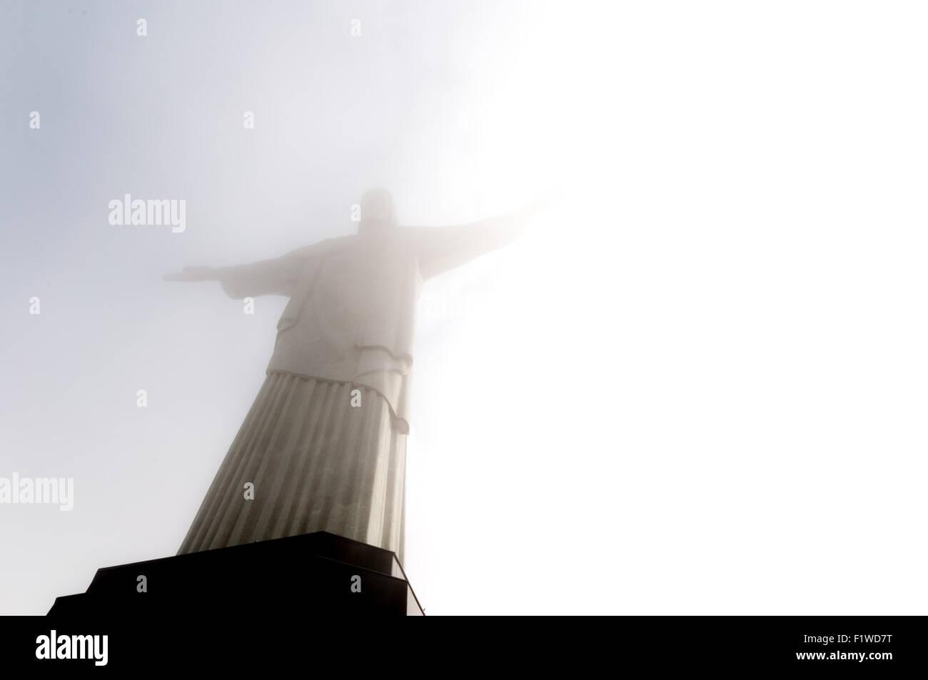Berg Corcovado in Rio De Janeiro, Brasilien Stockbild