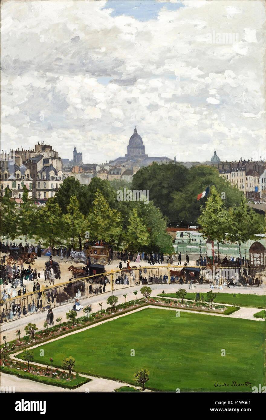 Claude Monet - Garten der Fürstin, Louvre Stockbild