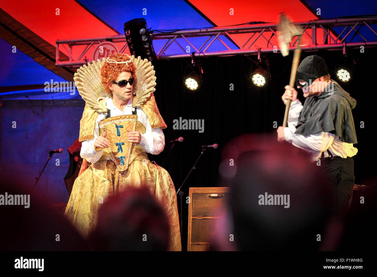 Schreckliche Geschichten auf miteinander der Menschen-Festival in Brighton durchgeführt wird. Stockbild