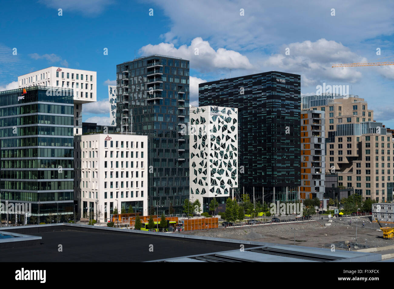 moderne architektur geb ude in oslo norwegen stockfoto bild 87249370 alamy. Black Bedroom Furniture Sets. Home Design Ideas