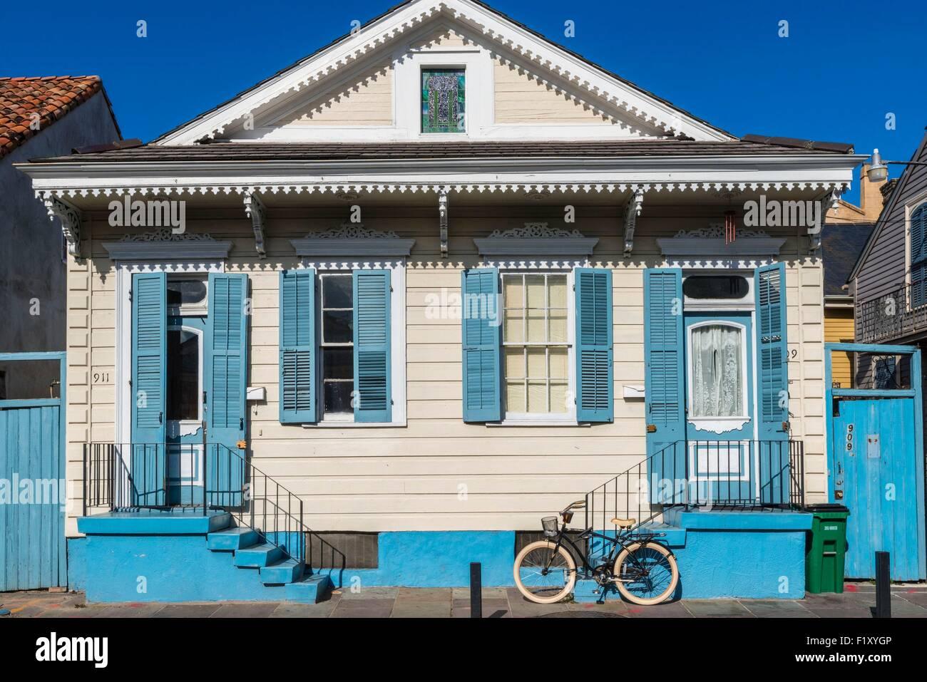 Usa Louisiana New Orleans Karibischen Stil Hauser Stockfoto Bild