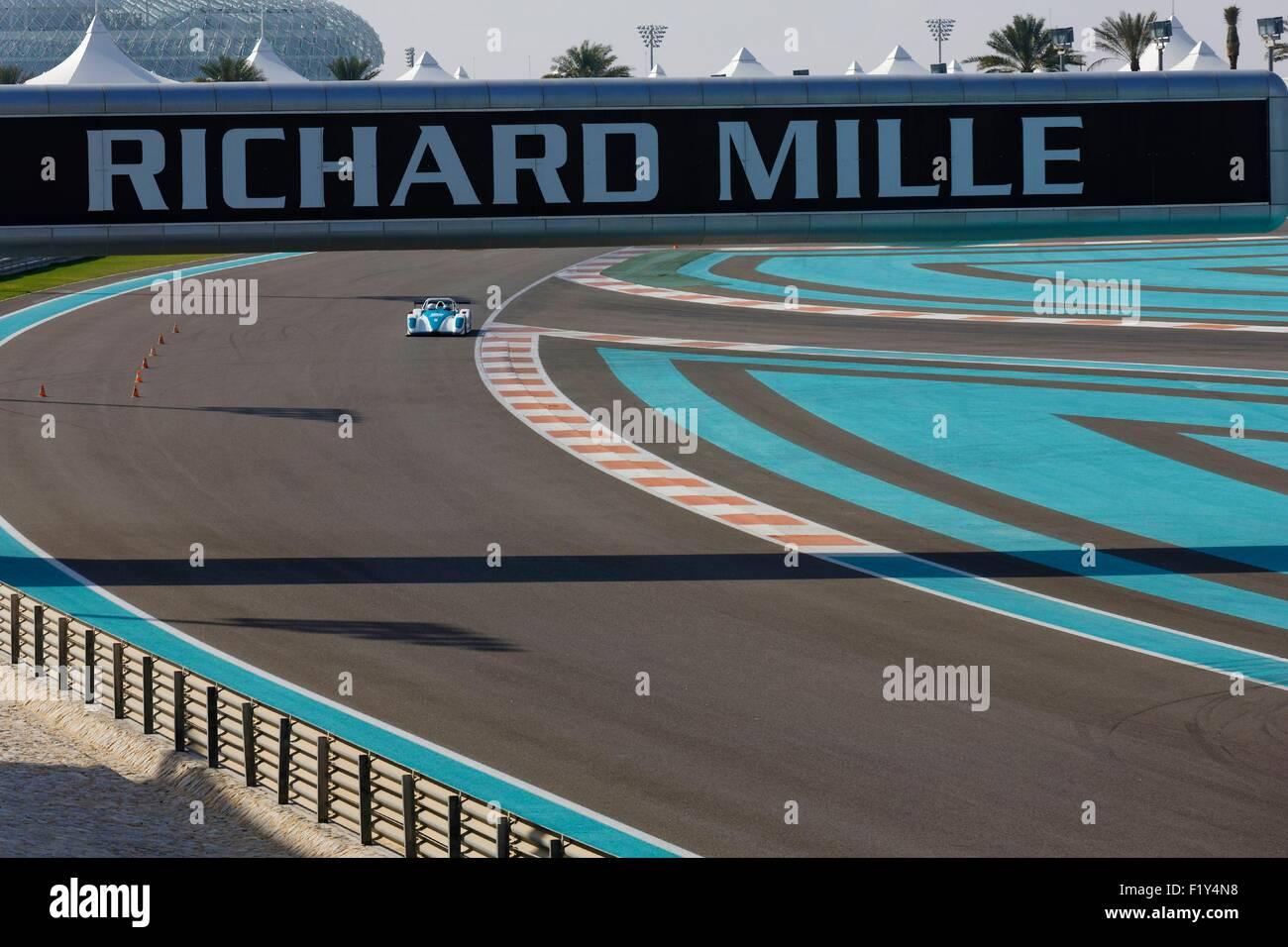 Vereinigte Arabische Emirate, Abu Dhabi, Yas Marina Circuit, Phase des Grand Prix der Formel1 Stockbild
