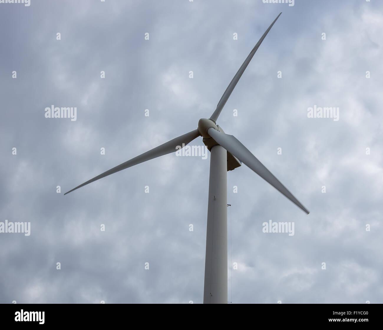 Windmühlen auf dem Display an der American Wind Power Center und Museum in Lubbock, Texas. Stockbild