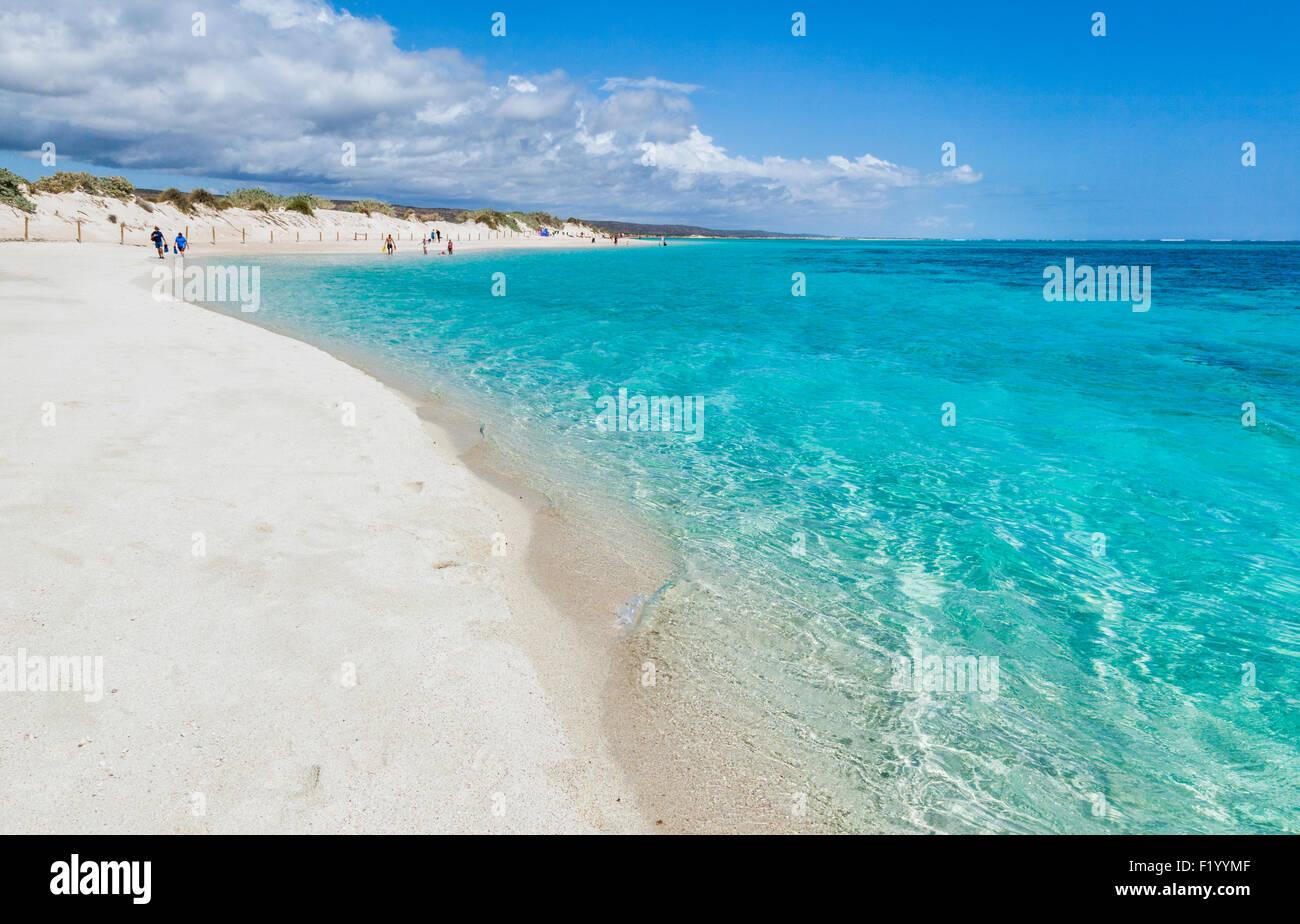 Australien, Western Australia, Gascoyne, Exmouth, Ningaloo Marine Park, Turquoise Bay am Ningaloo Reef Stockbild
