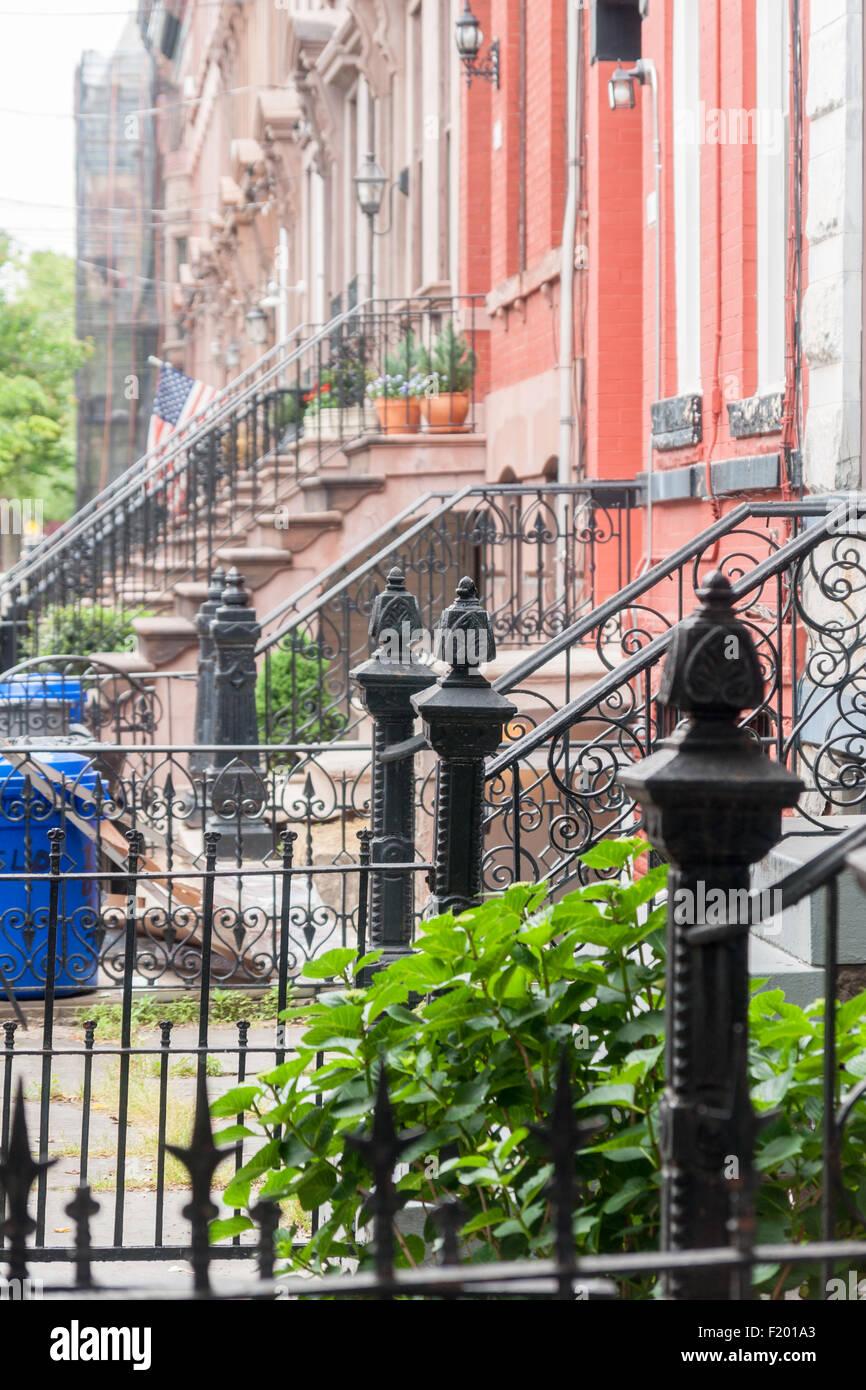Fabelhaft Amerikanische Terrasse Dekoration Von Anfang Des 20. Jahrhunderts Brownstone In Hoboken,
