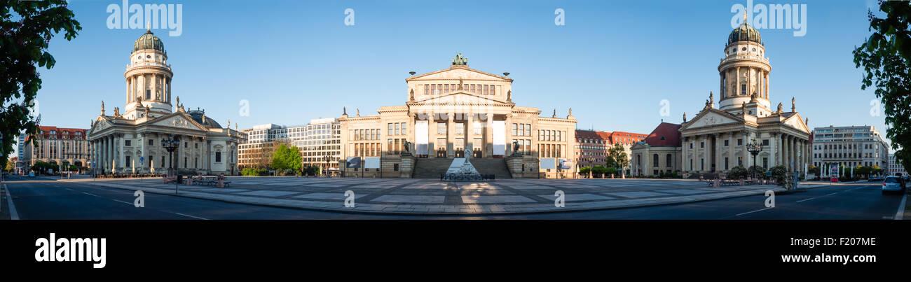 Gendarmenmarkt-Panorama Stockbild
