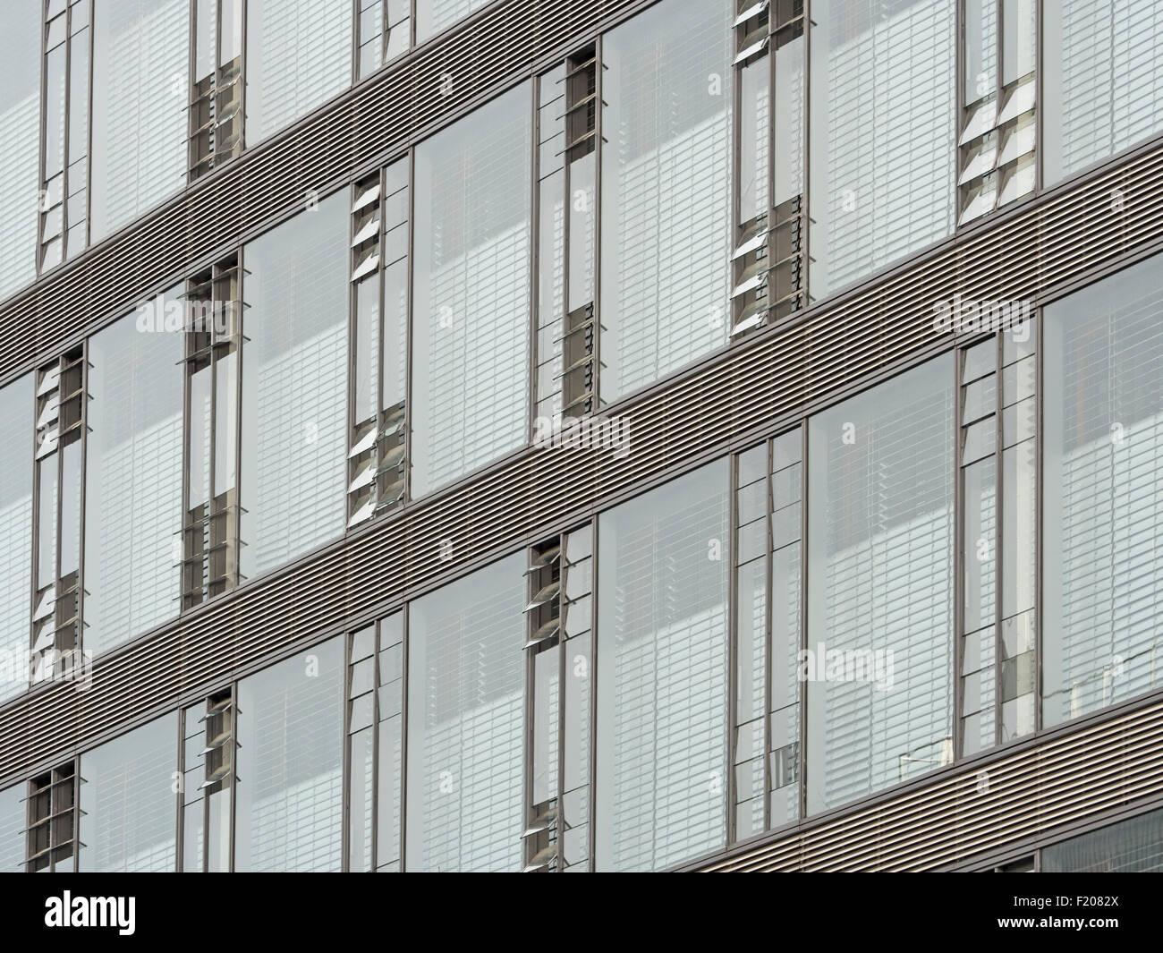 Details Einer Glasfassade Stockbild