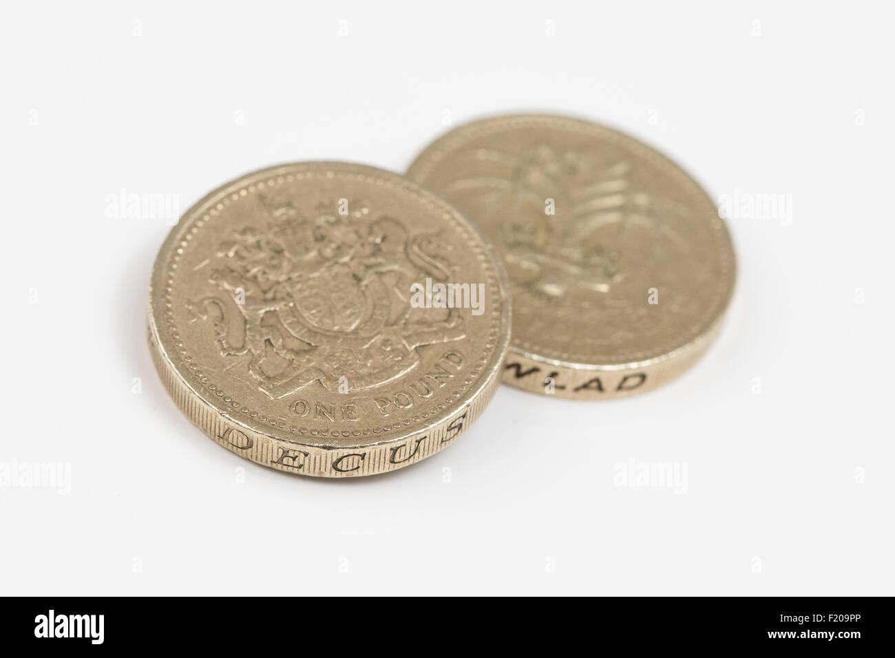 Zwei Pfund Münzen Englische Währung Stockfoto Bild 87288846 Alamy