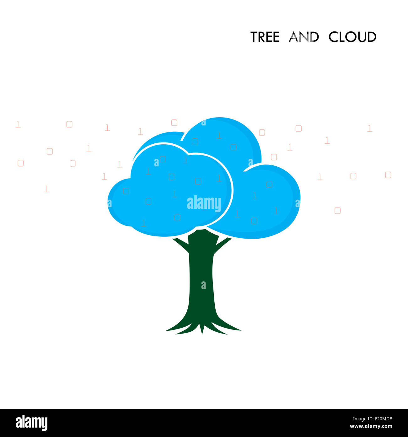 Baum-Cloud Logo-Design-Vorlage. Digitale Business-Technologie ...