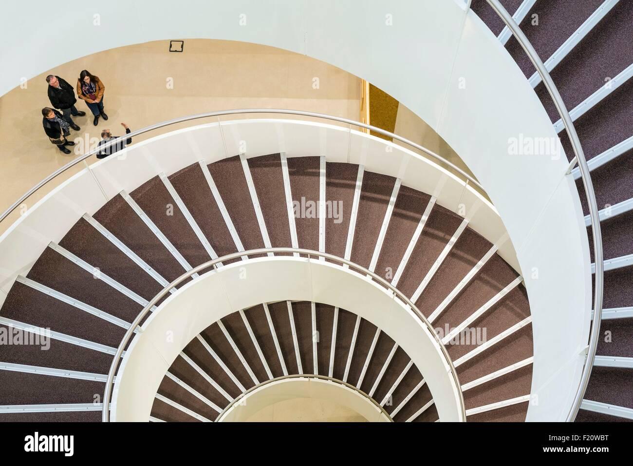 Frankreich, Seine Maritime, Le Havre, Universitätsbibliothek durch das Architekturbüro Dottelonde & Stockbild