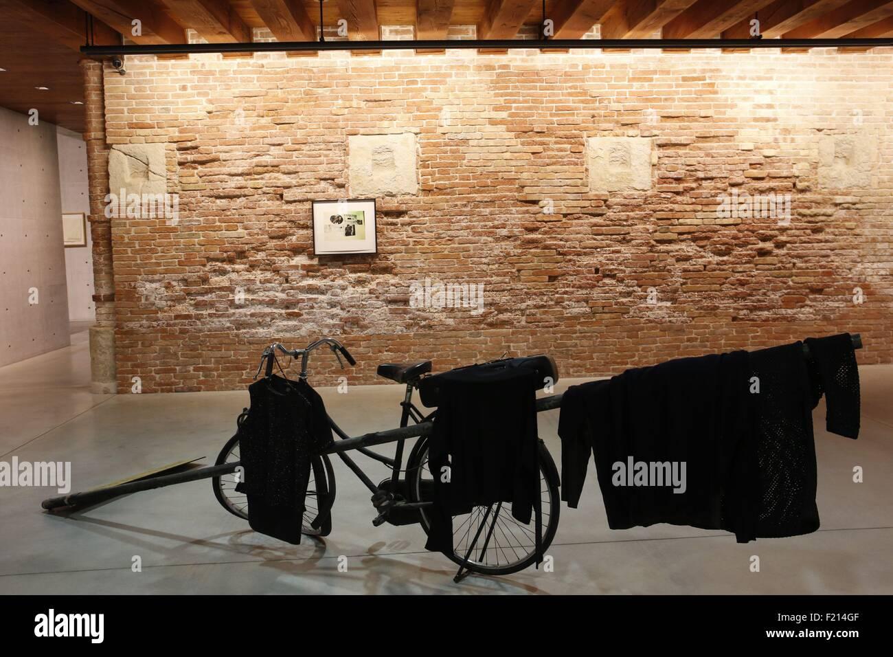 Italien, Venedig, Slip auf der Zunge Ausstellung zeitgenössischer Kunst in der Punta della Dogana Stiftung Stockbild