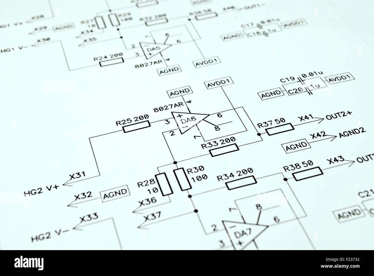 Schematic Drawing Stockfotos & Schematic Drawing Bilder - Alamy