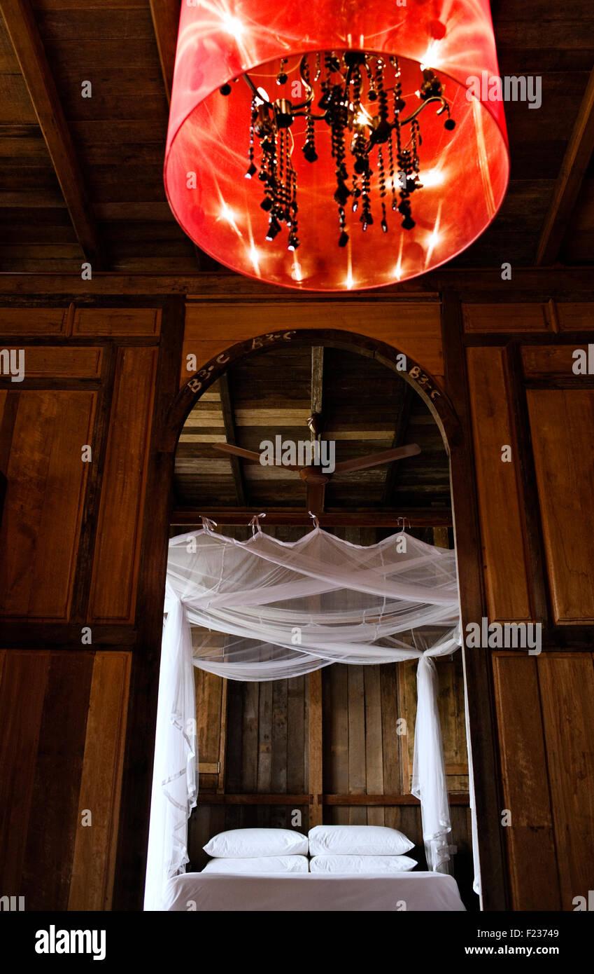 Antike Gebäude der chinesischen, malaiischen, indischen und eurasischen Ursprungs, machen dieses Hotel 8 Villa. Stockfoto