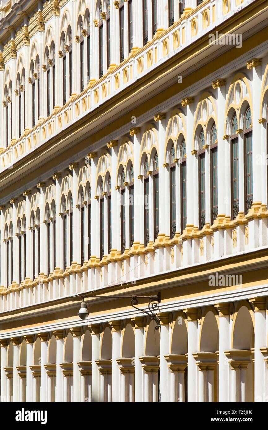 Kuba, Ciudad De La Habana Provinz, La Havanna, Centro Habana District, Wohnhaus am Trocadero Straße Stockbild