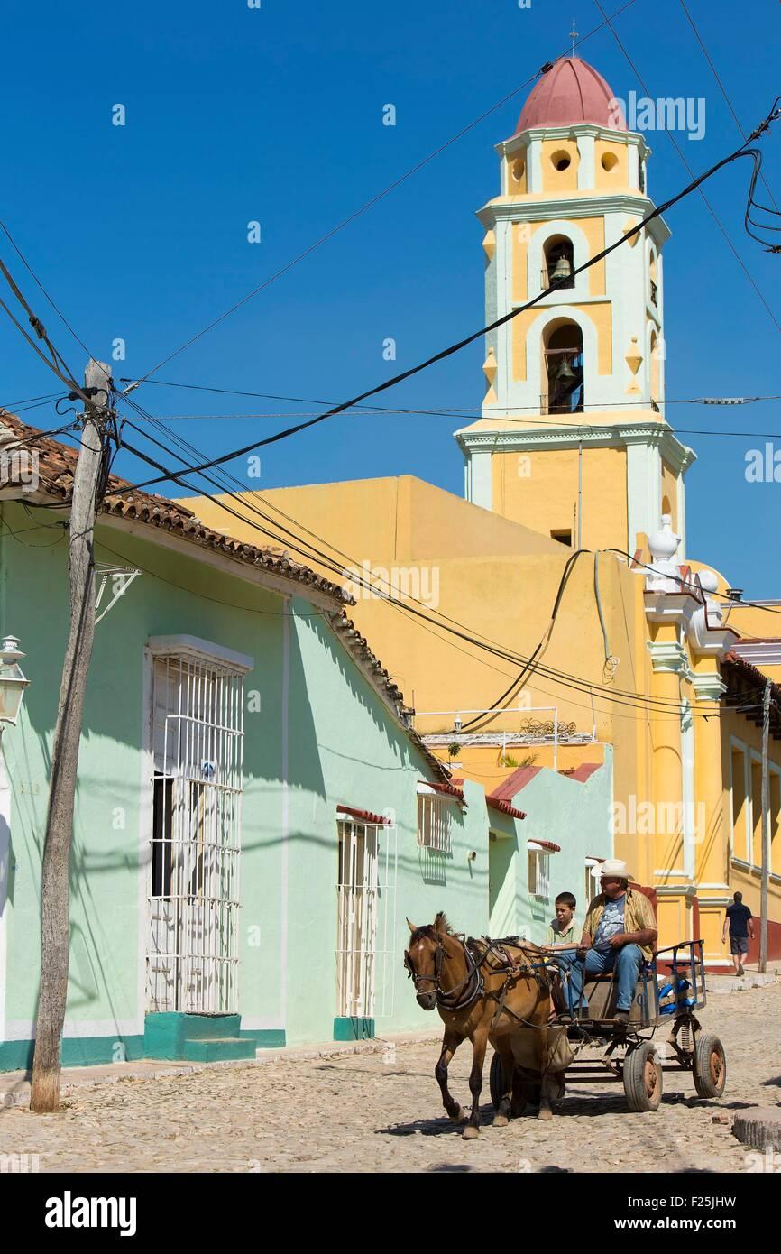 Kuba, Provinz Sancti Spiritus, Trinidad de Cuba, Weltkulturerbe der UNESCO, San Francisco de Assis Kirche jetzt Stockbild