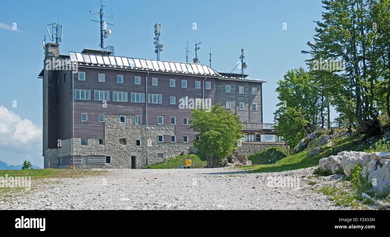 Orlove Glave Berggasthaus, Vogel Skizentrum, Triglan Nationalpark, Julischen Alpen, Slowenien, Europa, Stockbild