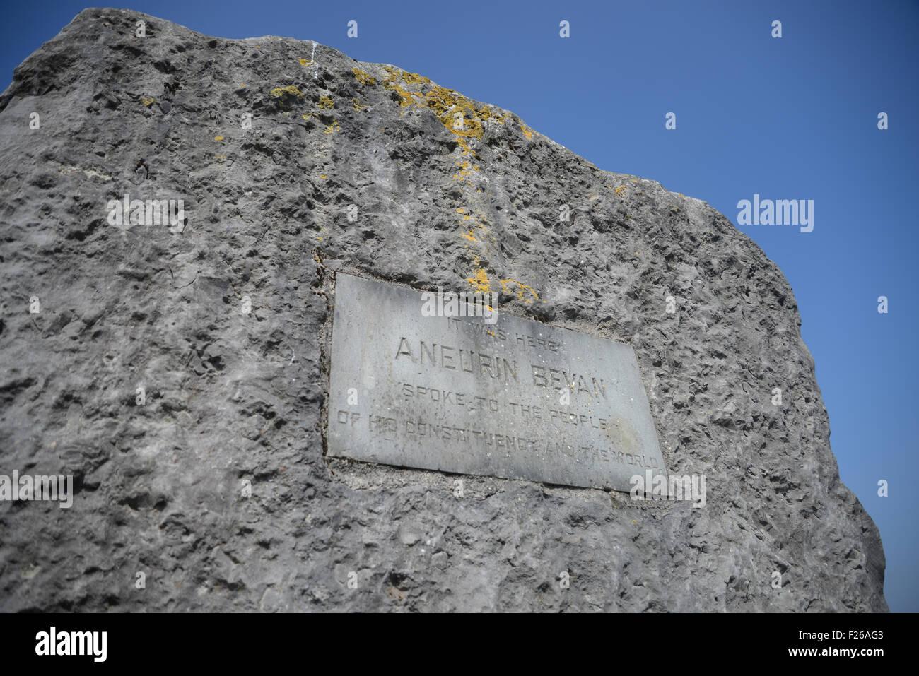 2. Februar 2015 Lager Datei Bild des Denkmals von Aneurin Bevan MP Gründer des National Health Service in den Stockbild