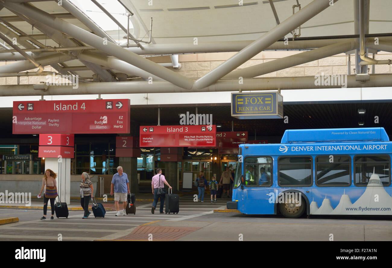 mietwagen shuttle am flughafen denver international airport, co