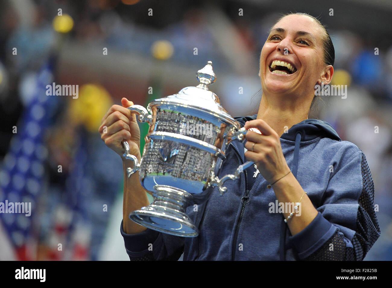 Flushing Meadows, New York, USA. 12. Sep, 2015. US Open Tennis Championships. Damen Einzel Finale. Pennetta gegen Stockbild