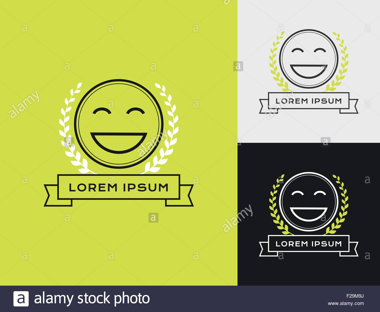 Verkaufsberater, Verkaufstrainer oder Mystery-Shopper-Firmen-Logo. Symbol für die Zufriedenheit der Kunden. Stockbild