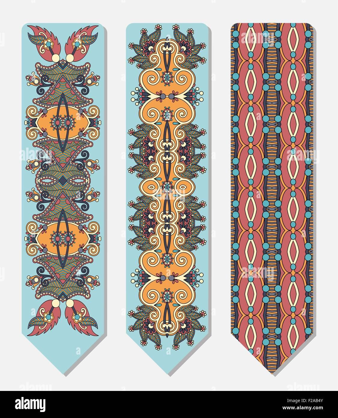 Berühmt Blumen dekorative ethnischen paisley Lesezeichen zum ausdrucken UT16