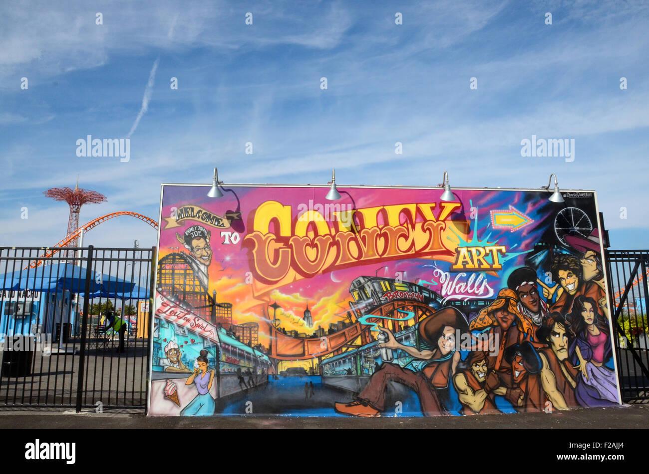 Coney Kunst Wände