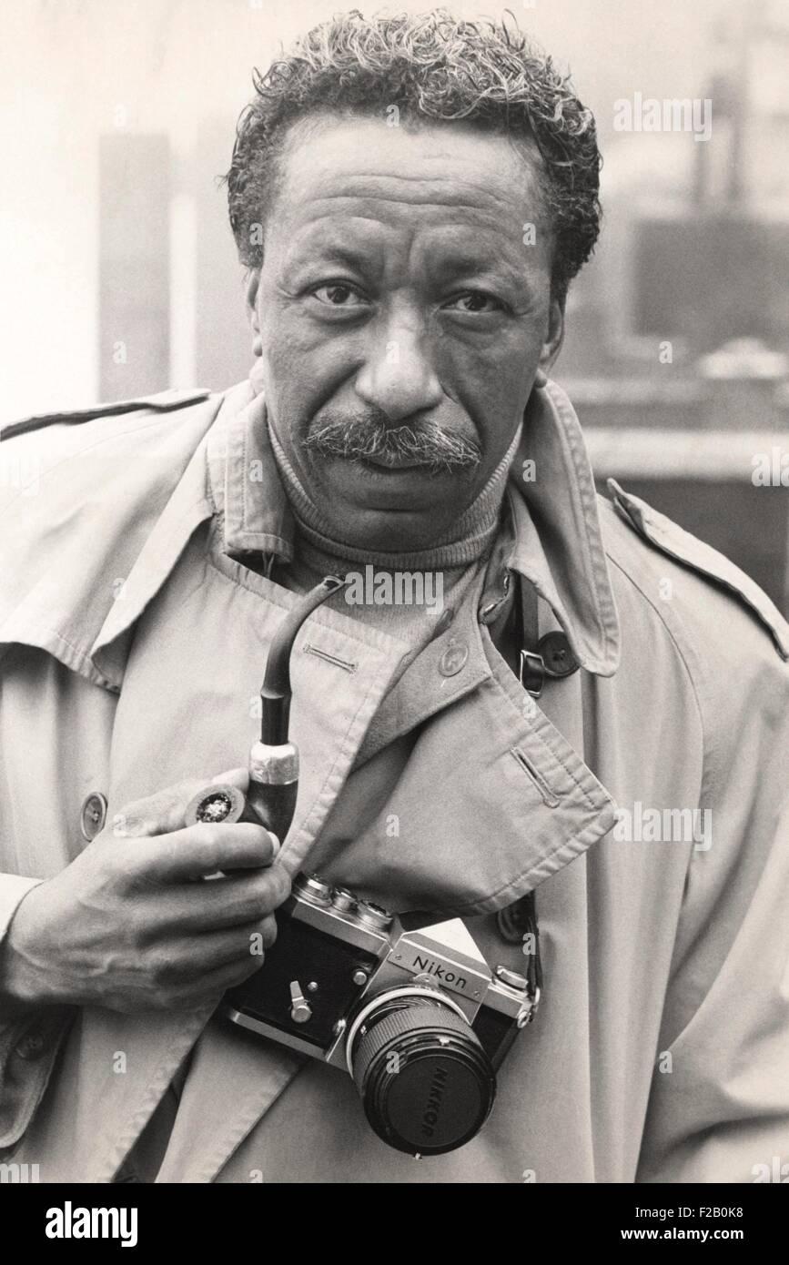 Gordon Parks Jr., US-amerikanischer Meister Fotograf im Jahr 1968. Foto wurde bei der Erstellung einer Präsentation Stockbild