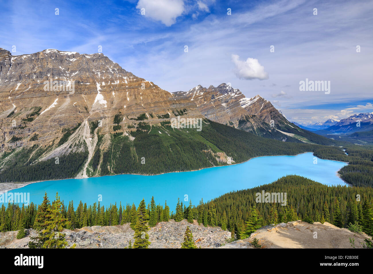 Peyto Lake, Banff Nationalpark, Alberta, Kanada. Stockbild