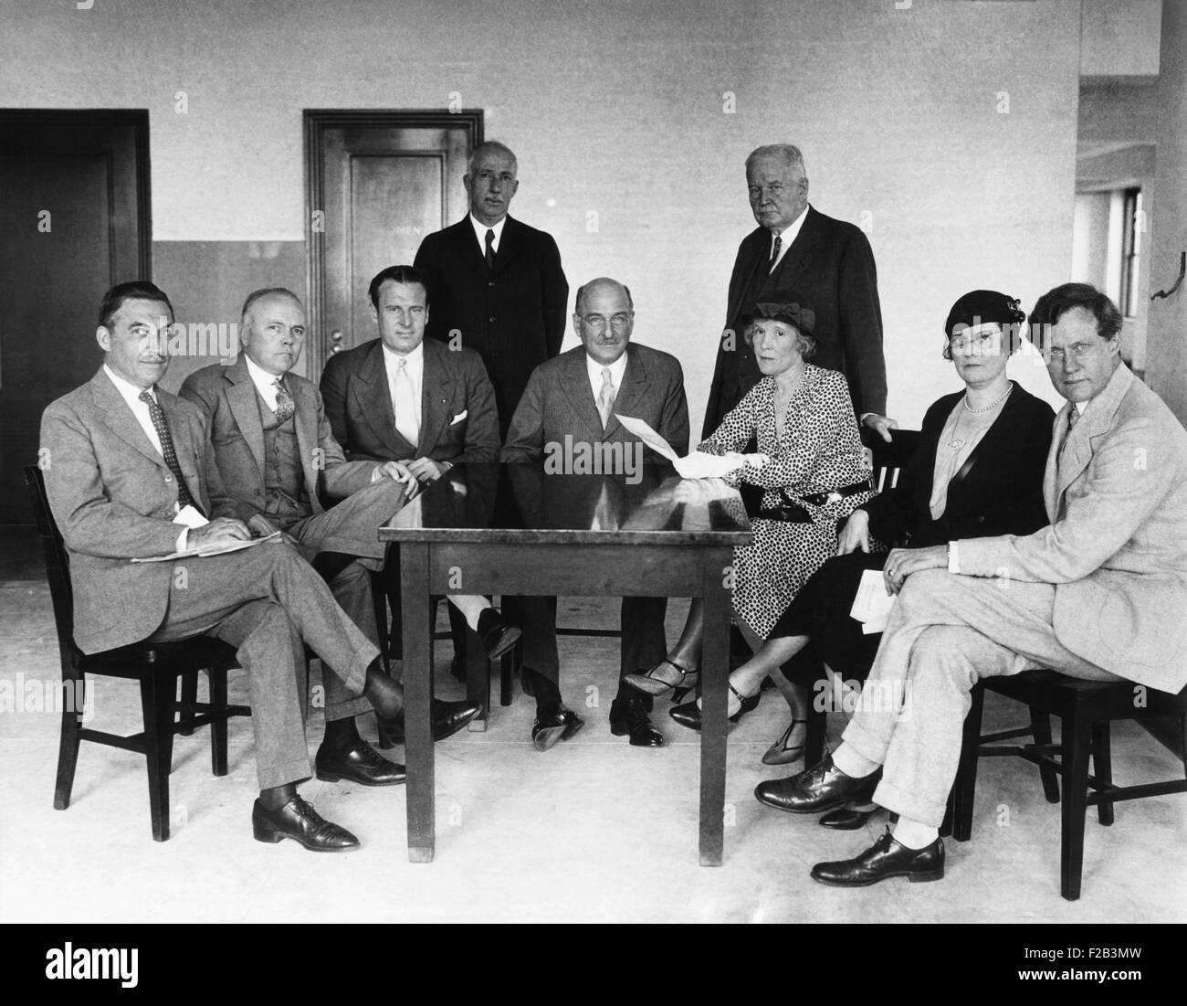 Führer der Anti-Verbot Organisationen trafen sich in das Empire State Building in New York, 6. Juni 1932. Sie Stockbild
