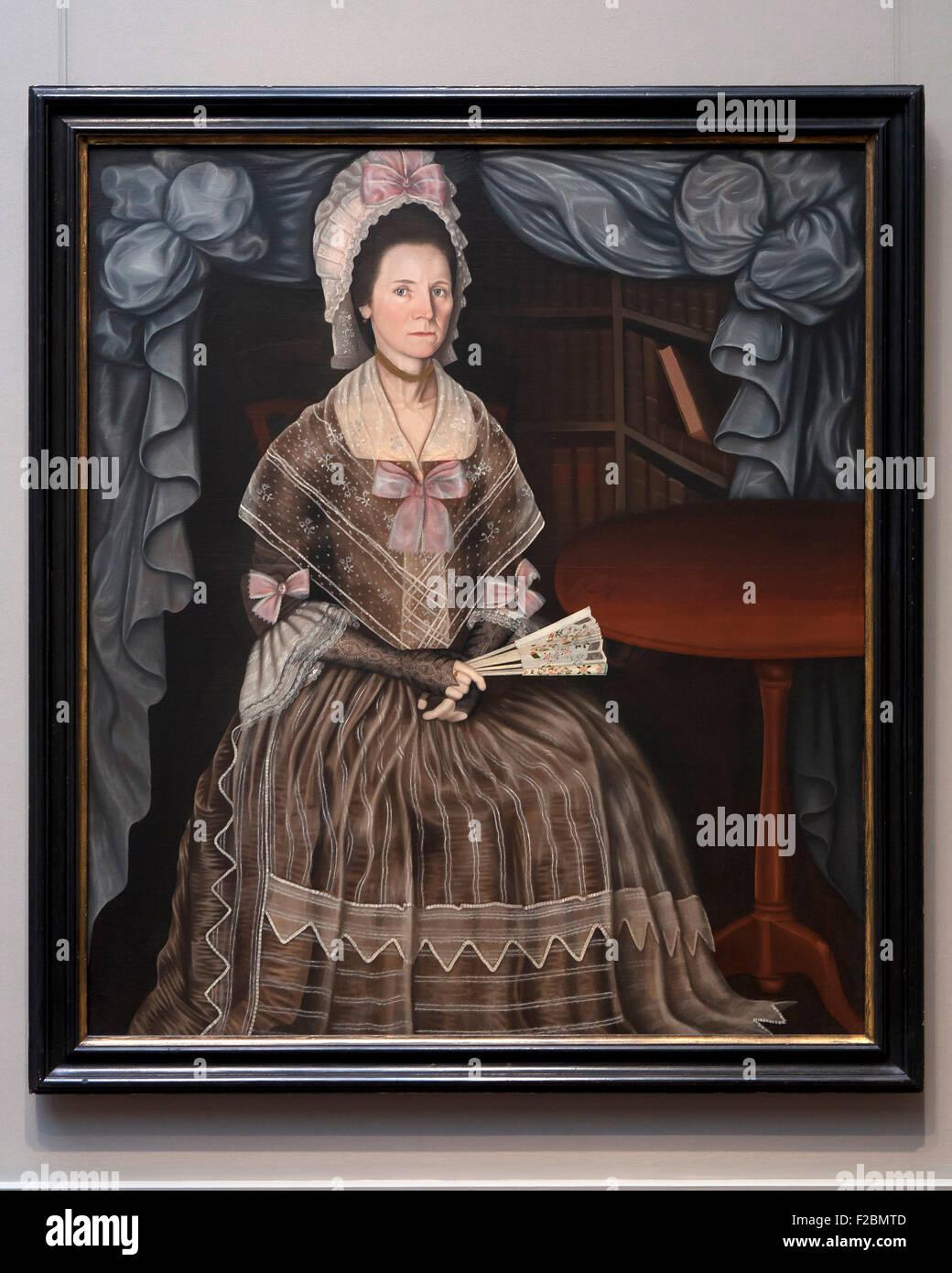 Frau Samuel Krämer von Winthrop Krämer, circa 1780 Stockbild