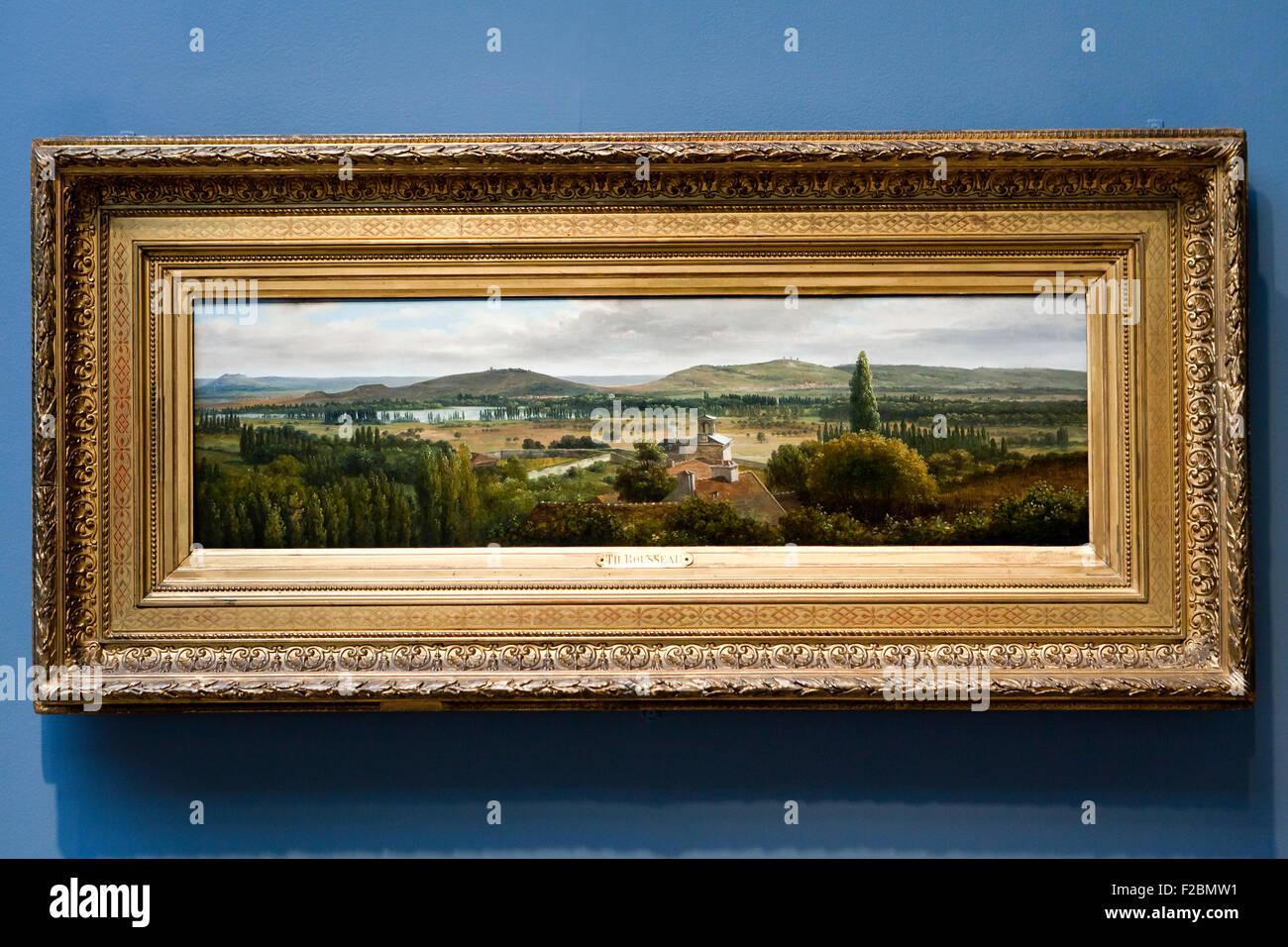 Panoramablick auf die Ile-de-France von Theodore Rousseau, um 1830 Stockbild